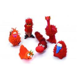 اسباب بازی عروسکی قرمز پلاستیکی