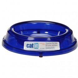 ظرف آب و غذای گربه رنگ آبی